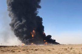 Hundreds of tank trucks explode: flames in an Afghan border town