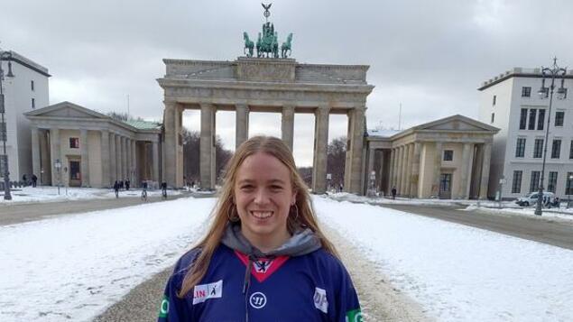 Polar Bear's new striker: Theresa Knotson Berlin - has arrived