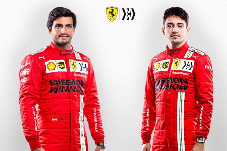 Sprint GP: Lechler & Sainz (Ferrari) Emotion Danger / Formula 1
