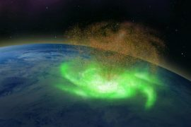 North Pole: Space cyclone rains electrons