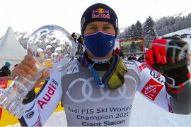 Alexis Pinturult wins giant slalom, giant slalom crystal and overall World Cup from Lenzerheide
