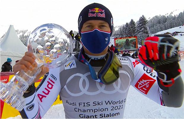 Alexis Pinturult wins giant slalom, giant slalom crystal and overall World Cup from Lenzerheide