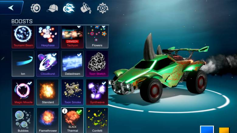 Rocket League Sideswipe Garage