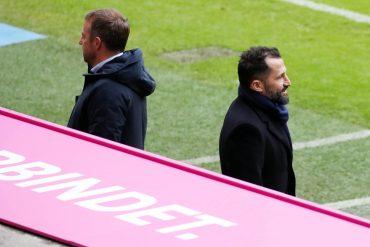 FC Bayern: Trainer Hans-Dieter Flick (li.) und Sportvorstand Hasan Salihamidzic (re.)