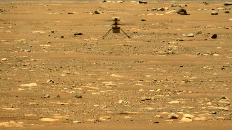 Origin of Mars helicopter: high, long, sideways - also a successful second flight