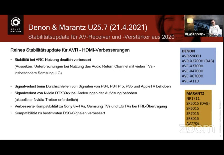 U25.7 improved through firmware update