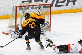 Ice Hockey Picture Gallery: Germany lost their second Test match against Austria at Fusen with 2: 3