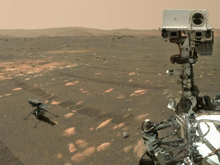 NASA rover takes selfie with Mars helicopter - Science