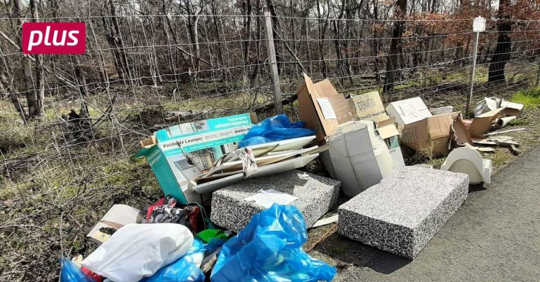 The city of Raunheim registers more rubbish in a public place