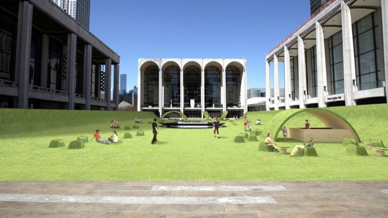 "The iconic square of Lincoln Center becomes a ""green"" place"
