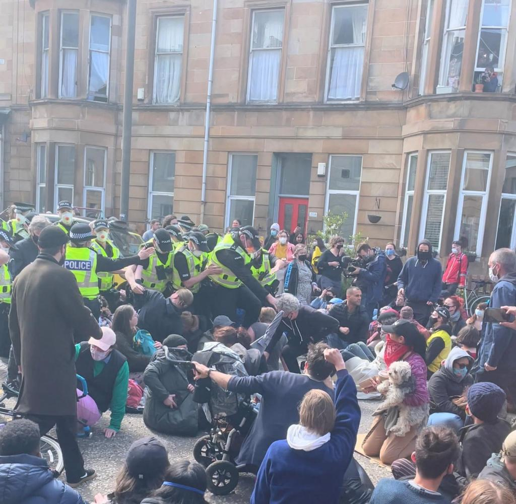 There was also a sit-in