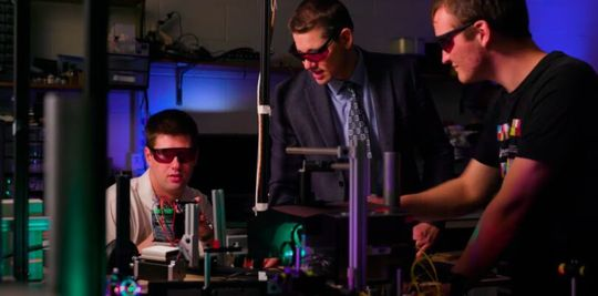 Researchers led by Brigham Young University's Dan Smalle are developing a hologram that can rotate in empty space.