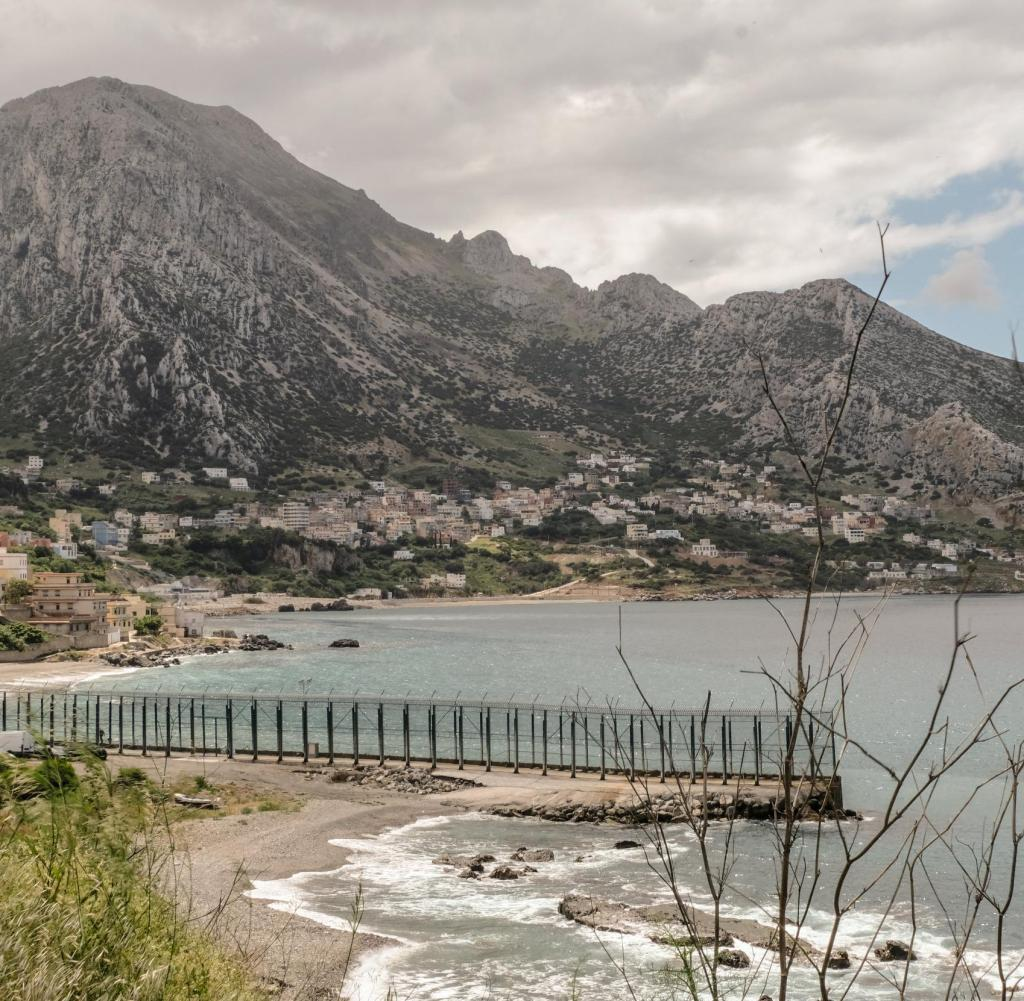 View of the border between Ceuta and Morocco