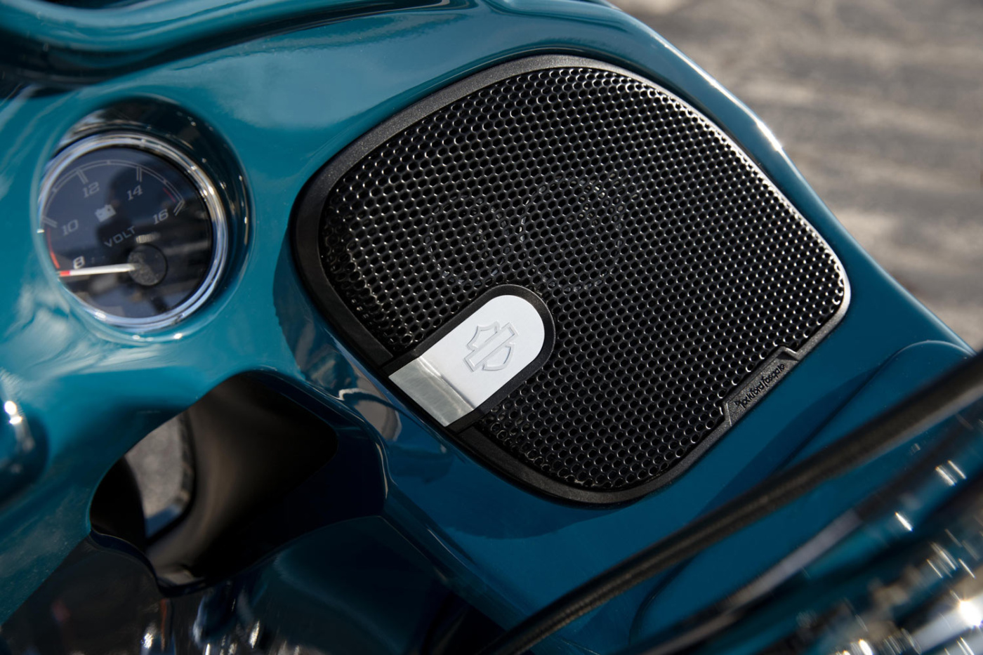 Harley-Davidson partnered with Rockford Fosgate 2 on audio system