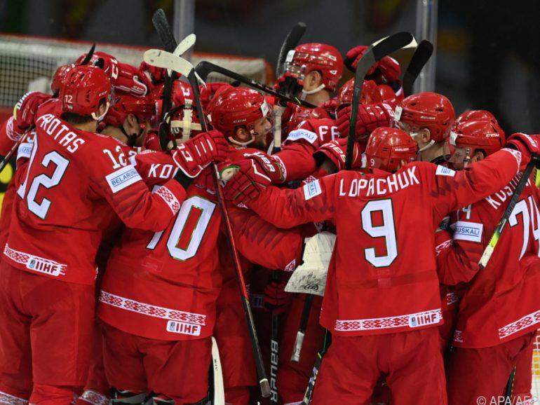 Weißrussischer Jubel bei der Eishockey-WM
