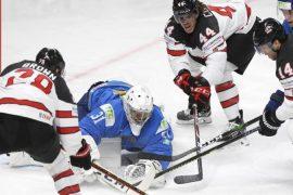 Ice Hockey - Canada wrestling with fiery Kazakhs - Sports