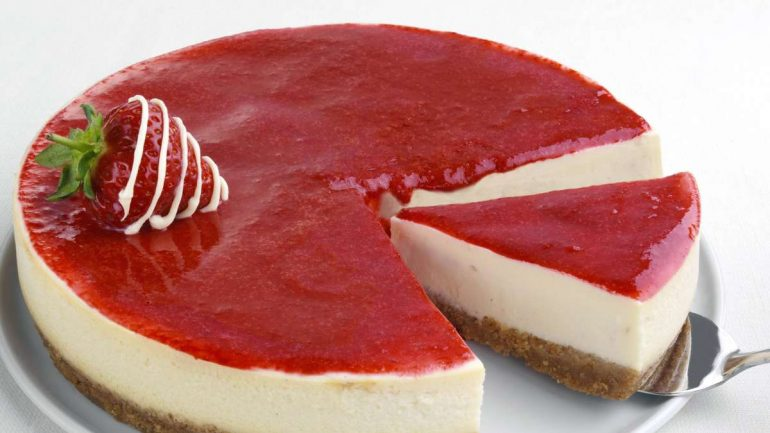 Panna Cotta Cake with Strawberry: Baked Cake - A Highlight for Every Coffee Table