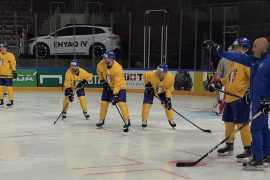 Blue team against Germany before the first Herculean task - National teams