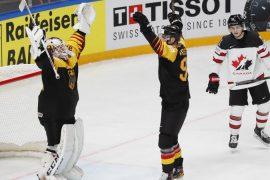 Ice Hockey World Cup: Germany celebrates against Canada