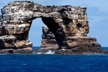 Natural erosion: Darwin's arch rock formation collapsed off the coast of the Galápagos Islands
