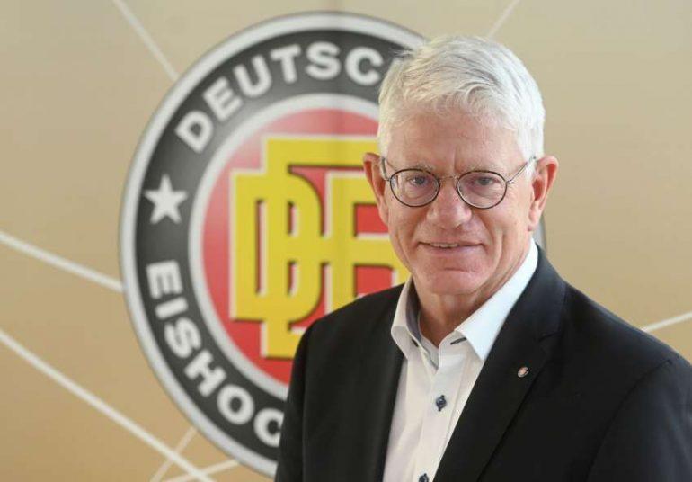 Franz Reindl, Präsident des Deutschen Eishockey-Bundes, freut sich, dass schnell ein neuer Termin für die Weltmeisterschaft der Frauen gefunden worden ist.