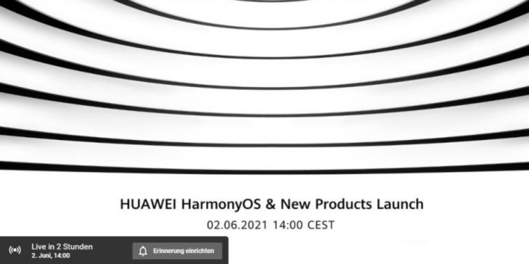 Huawei unveiled HarmonyOS in a live stream starting at 2 PM.