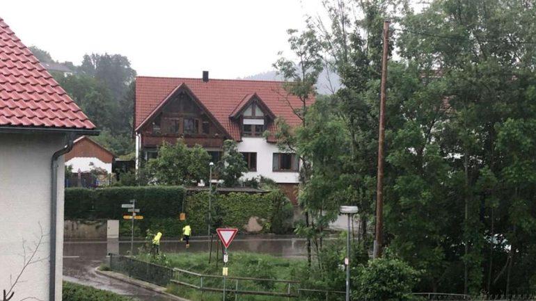 Heavy storm on Waldsetten    schwabish gamundi