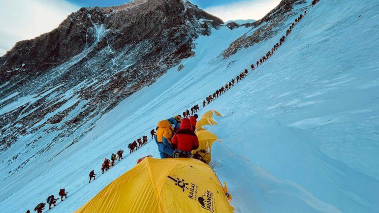 Climbing: German extreme athlete (30) explains photo of Mount Everest