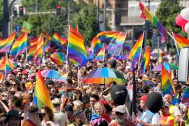Warsaw: Thousands with rainbow flags in Pride Parade