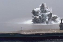 US Navy tests aircraft carrier with artificial sea earthquake