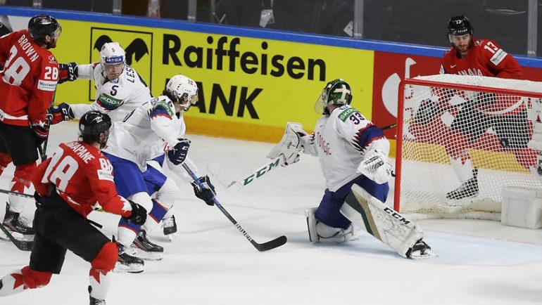 Seit Andrew Mangiapane (Nummer 18) in Riga im Team Canada mitspielt, gab es für Kanada nur noch Siege