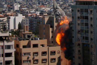 Israeli military justifies airstrikes on media tower in Gaza