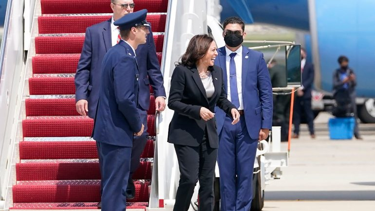 """Short Prayer Said"": Plane Returns Carrying US Vice Harris"