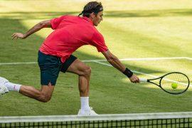 In Halle/Westfalen gewann Roger Federer sein Autakt-Match.