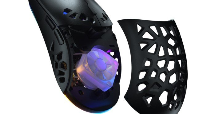The end for sweaty hands: Perforated mouse even cooler with RGB fan