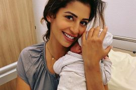 New mom Eva Beneteau shares first photo with baby George