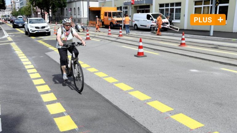 Augsburg: Fewer parking spaces, more space for cyclists: that's what new bike lanes bring