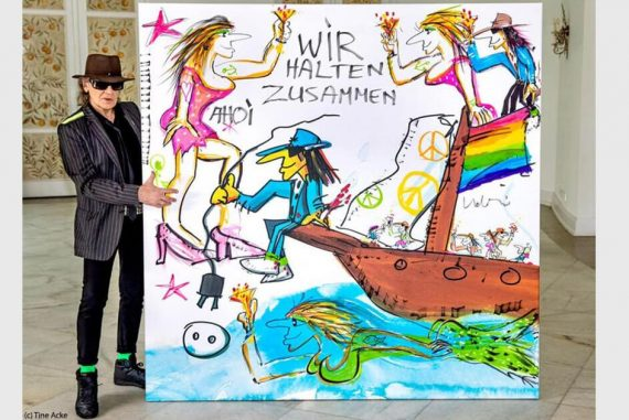 After the flood disaster: Udo Lindenberg is auctioning a work of art for 200,000 euros