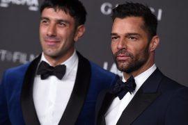 Closely hugging husband: Ricky Martin defends himself against hate