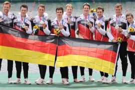 Germany in the red field Silver in eight rows - Sport