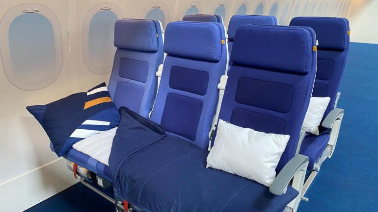 New at Lufthansa: Full line of seats to sleep in