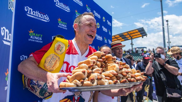 New world record: Hotdog weather eaters outperform their personal bests