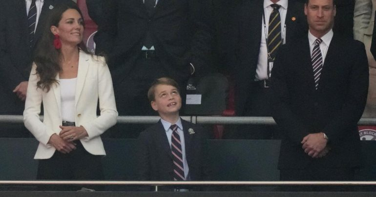 Prince George: Such sweet cheer for England's lovely opening goal - William with a message for the team
