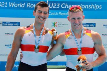 Silber-Duo: Aaron Erfanian (links) und Moritz Wolff.