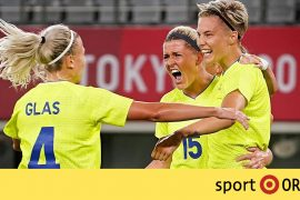 Soccer: Sweden defeated world champion USA - Tokyo 2020.  performed