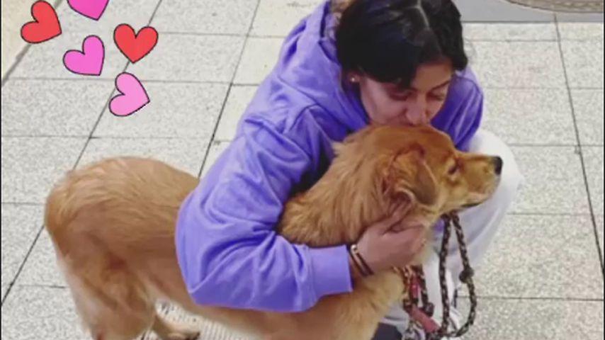 Evanthia Benneteau with her dog Shekha