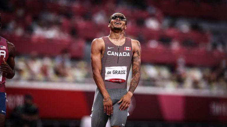 Andre de Grasse hat über 200 Meter Olympia-Gold gewonnen.