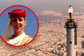 Emirates ad on Burj Khalifa: These hostess recordings are real