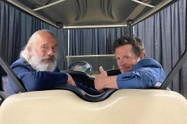Golf cart instead of DeLorean: Marty McFly and the Doctor reunited