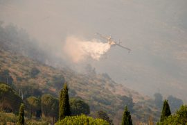 Heat, drought, arson: Italy fighting many fires